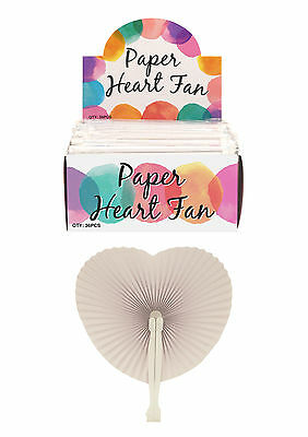 Wedding Anniversary Handheld Folding Paper Heart Fan Loot Party Bag Filler