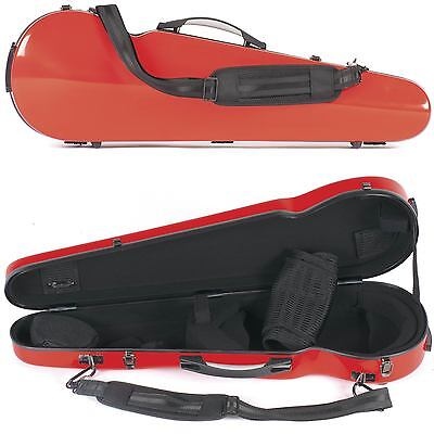 Core 430F Shaped Red Fiberglass 4/4 Violin Case - AN AUTHORIZED DEALER!