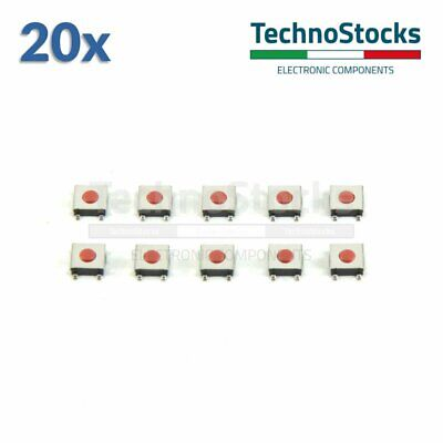 20x Micro Pulsanti PCB 6x6x2.5 SMD SMT - Tactile Push Button Switch