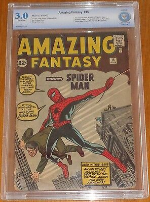 Amazing Fantasy #15 Cbcs (3.0) G/vg 1St App Spiderman Off White Pages (Sa)
