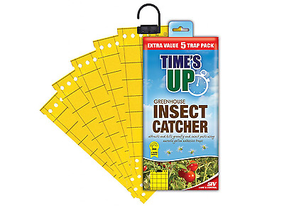 Greenhouse Insect Catcher Glue Adhesive Catches Fly Traps Kills Hanging Sheets