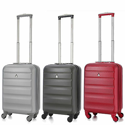 Aerolite Léger ABS Coque Rigide Spinner 4 Roues Main Bagage Cabine Valise