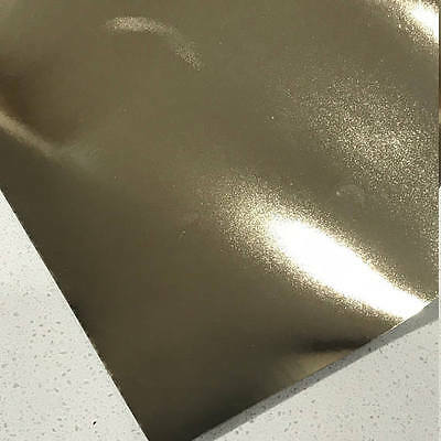 Champagne Gold Mirrored Leatherette 0.8mm Thickness Mirror Gold Glossy Leather