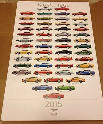 1965 2015 Ford Mustang 50th Anniversary Poster