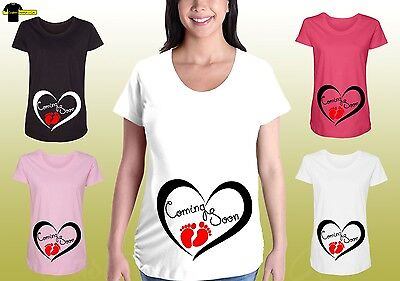 Funny Maternity Graphic Tee Shirt Coming Soon Designed Maternity Pregnancy Shirt