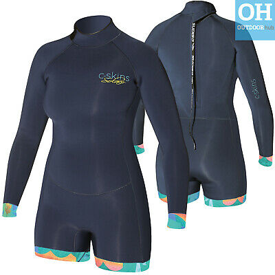 Ladies Shortie Wetsuit Boyleg 2mm C-Skins Solace Surf Kayak Waterports Womens