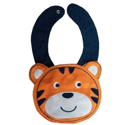 NEW Carter's Orange Fox Baby Boys Terry Cloth Teething Drool Bib