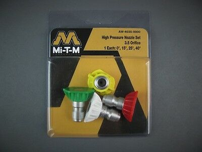 Mi-T-M AW-4035-0000 / AW40350000 High Pressure Nozzle Set 3.5 Orifice