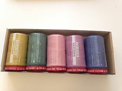 Genziana 12wt Wool Thread 350M in Sue Spargo handpicked colors- A