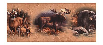 "York Wallcoverings Book North American Animals 15' x 9"" Wallpaper Border WD4305B"