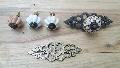 Ornate Old Retro Vintage Cupboard Cabinet Drawer Dresser Door Knobs Pull Handles