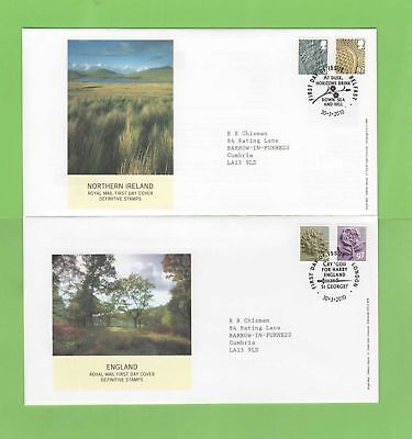 G.B. 2010 set of four Royal Mail regional 60p & 97p First Day Covers