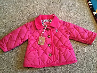 BNWT Baby Girls 0-3 Months Pink BABYMABEL Joules Quilted Coat Jacket