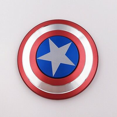 Hand Spinner Fidget Spinner Focus Toy ADHD Autism Captain America Shield EDC