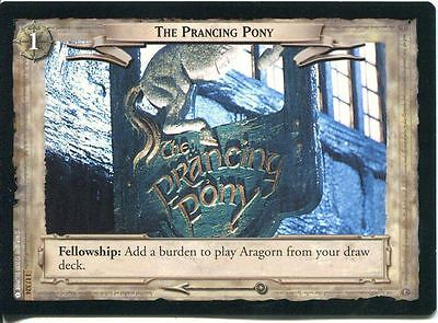 Lord Of The Rings CCG FotR Card 1.U324 The Prancing Pony