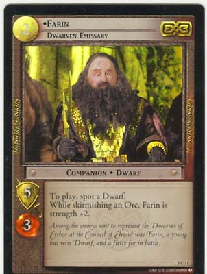 Lord Of The Rings CCG FotR Foil Card 1.C11 Farin Dwarven Emissary