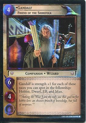 Lord Of The Rings CCG FotR Foil Card 1.R72 Gandalf Friend Of The Shirefolk