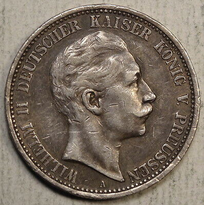 Prussia 2 Mark 1908A, Nice Circulated Example  0515-02