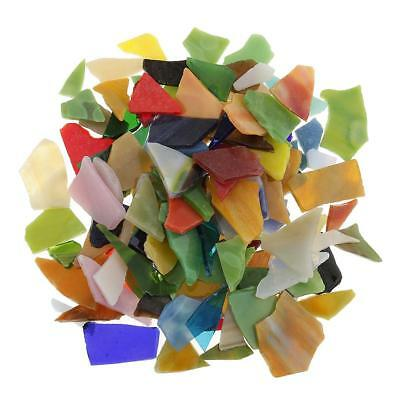200g Multicolor Irregular Glass Pieces Mosaic Tiles for Art Crafts 10-30mm