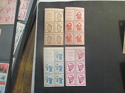 2-1970  BOOKLET  ISSUE'S  6 c --4  FULL  SHEETS  --MINT    --A1