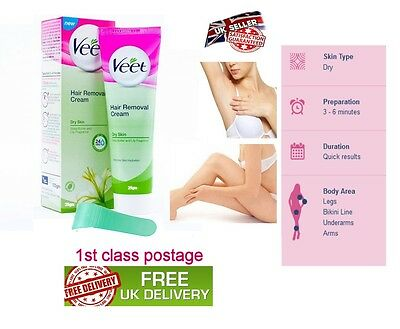 Veet Hair Removal Cream Dry Skin shea butter and Lily Fragrance 25gm Travel Pack