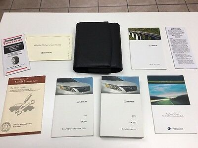 Lexus RX 450h  2012  Owners Manual Book // In Case / OEM / Free Shipping