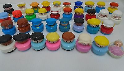 36 Vintage Fisher Price Chunky LP Bicycle Bells Fat Little People Lot HTF & Baby