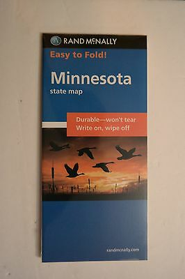 Rand McNally Easy To Fold Minnesota State Map Durable Write On Wipe off