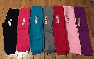 NWT Girls GARANIMALS Solid Fleece Sweatpants ~Various Colors~ 2T 3T 4T or 5T