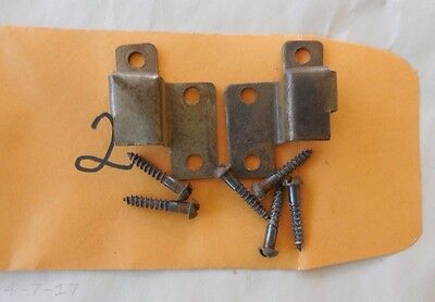 Antique Org Globe Wernicke Stacking Bookcase Door Hinge Assembly With Screws #2