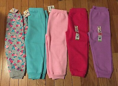 NWT Girls GARANIMALS Solid Fleece Sweatpants ~Various Colors~18M and 24M