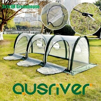 3x1x1M Portable Tunnel Greenhouse Green House Plant Shed Foldable Insect Screen