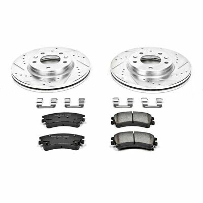Powerstop 2-Wheel Set Brake Disc and Pad Kits Front New for KOE6779