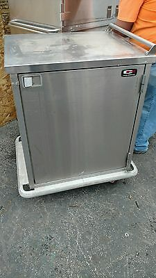 Enclosed Commercial Cart Kitchen Food Catering Rolling Dolly Stainless Steel