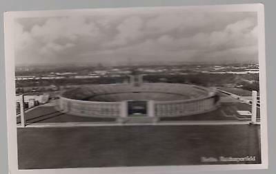 Mint 1936 Germany Olympics Reich Sport Field Stadium Real Picture Postcard RPPC