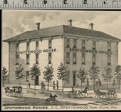 Spottswood House Hotel in Willmar, Minnesota: Authentic 1874 View