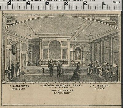 Second National Bank of St. Paul, Minnesota: Authentic 1874 Interior View (Small