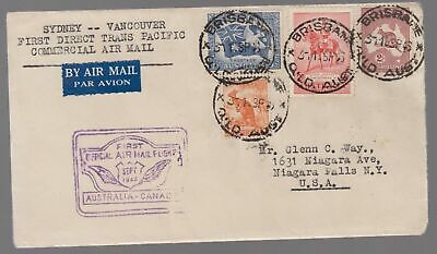 1946 Australia to Canada  FFC First Flight Cover