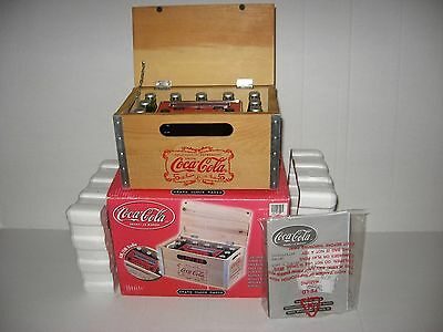 COCA-COLA Wood Crate AM/FM Clock Radio **NEW**