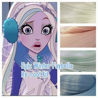 Ever After High Epic Winter Faybelle Custom Doll Re-root Kit OOAK DIY