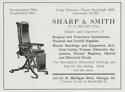 Sharp & Smith Surgical/Veterinary/Dental Equip. Authentic 1916 Iowa City Ad
