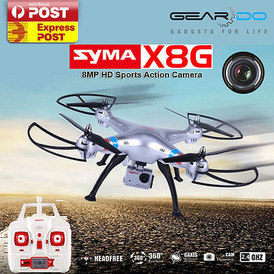 New SYMA X8G RC Quadcopter 2.4GHZ 4CH RTF 8MP HD Camera Drone