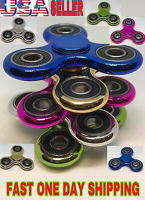 Lot Metallic Plated Spinner Fidget, Plastic ,wholesale. Christmas Gift