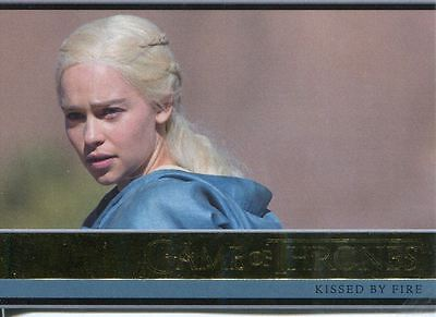 Game Of Thrones Season 3 Gold Parallel Base Card  15 Kissed By Fire
