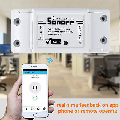 Sonoff ITEAD WiFi Wireless Smart Switch Module Shell Socket DIY Smart Home BY2