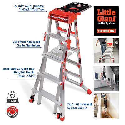 Wing Little Giant SelectStep Ladder Model 5-8 Tread  - A 5,6,7 & 8 Step in One