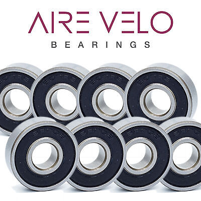 X8 - 608-ZZ/2RS SKATEBOARD BEARING IN STEEL, STAINLESS & HYBRID CERAMIC (8x22x7)