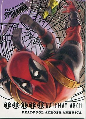 Spiderman Fleer Ultra 2017 Deadpool Across America Silver Web Chase Card DA7 Gat