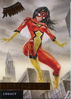 Spiderman Fleer Ultra 2017 Legacy Chase Card L10 Spider Woman