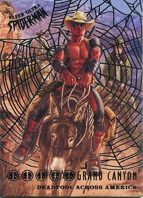 Spiderman Fleer Ultra 2017 Deadpool Across America Silver Web Chase Card DA4 Gra